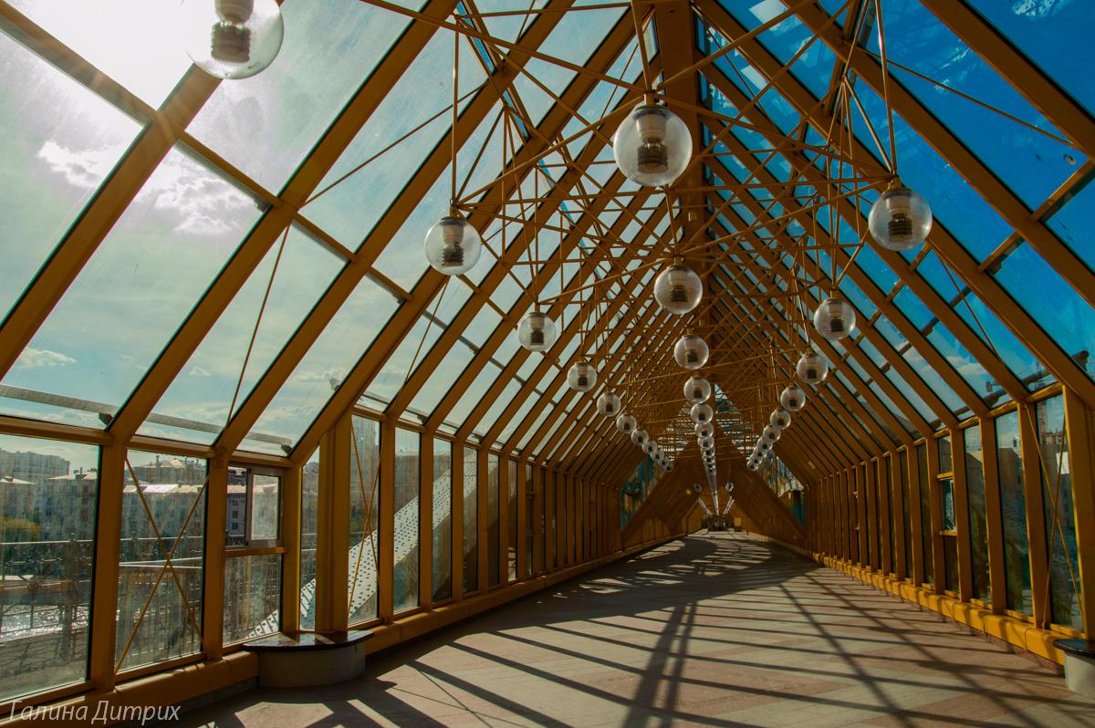 Парк Горького Андреевский пешеходный мост фото