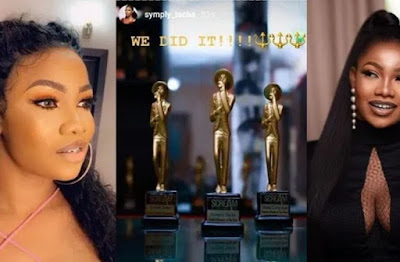 "BBNaija: Tacha Bags 3 Awards, Beats Mercy To ""Brand Influencer Of The Year"" Award"