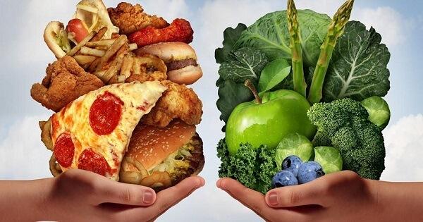 بحث عن الغذاء الصحي والغير صحي