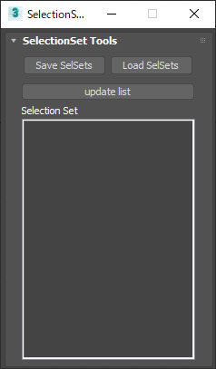 selection set export and import script in 3dsmax