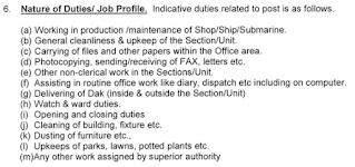 Indian Navy Tradesman Job Profile