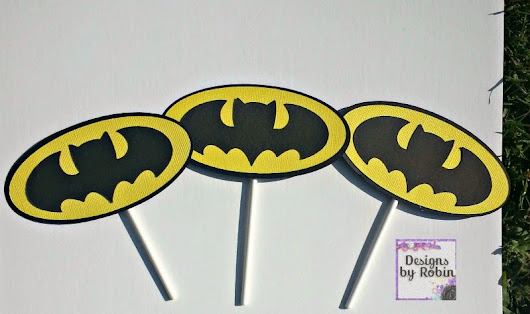 Cut One Designs by Robin: Bat boy and Bat girl cupcake and party decor!!!