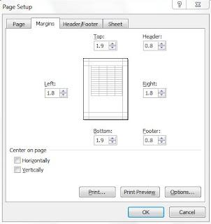 الطباعة فى الاكسل  من اهم مهارات الطباعة تطبيق اعدادات الطباعة على كل الصفحات دفعة واحدة بدون اكواد