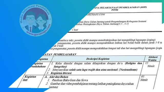 RPP PJOK 1 Lembar Semester 1 Kelas 5 Tema 5 K13