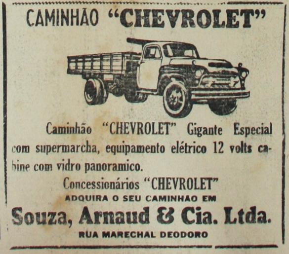 Propaganda veiculada em 1959 apresentava a oferta do Caminhão Chevrolet nas concessionárias