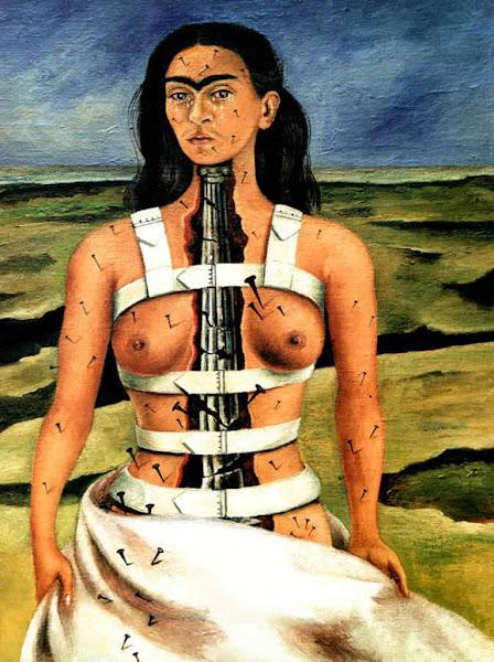 The Broken Column by Frida Kahlo, Macabre Art, Macabre Paintings, Horror Paintings, Freak Art, Freak Paintings, Horror Picture, Terror Pictures