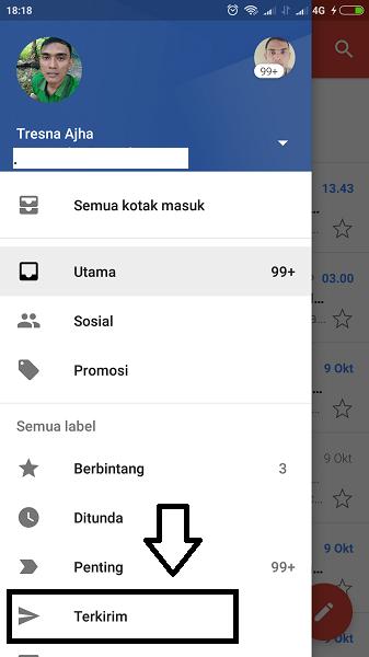 cara mengirim email lewat hp android