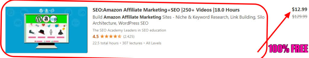 100% FREE DOWNLOAD | Best Udemy Amazon Affiliate Marketing + SEO Course