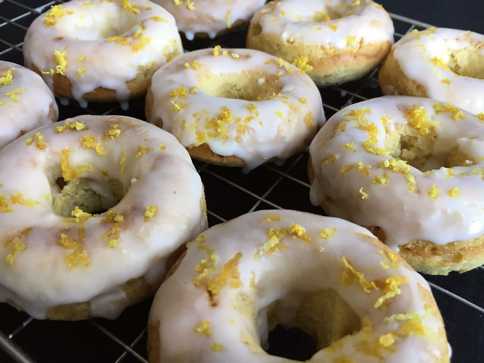 Glazed Lemon Donuts (Vegan)