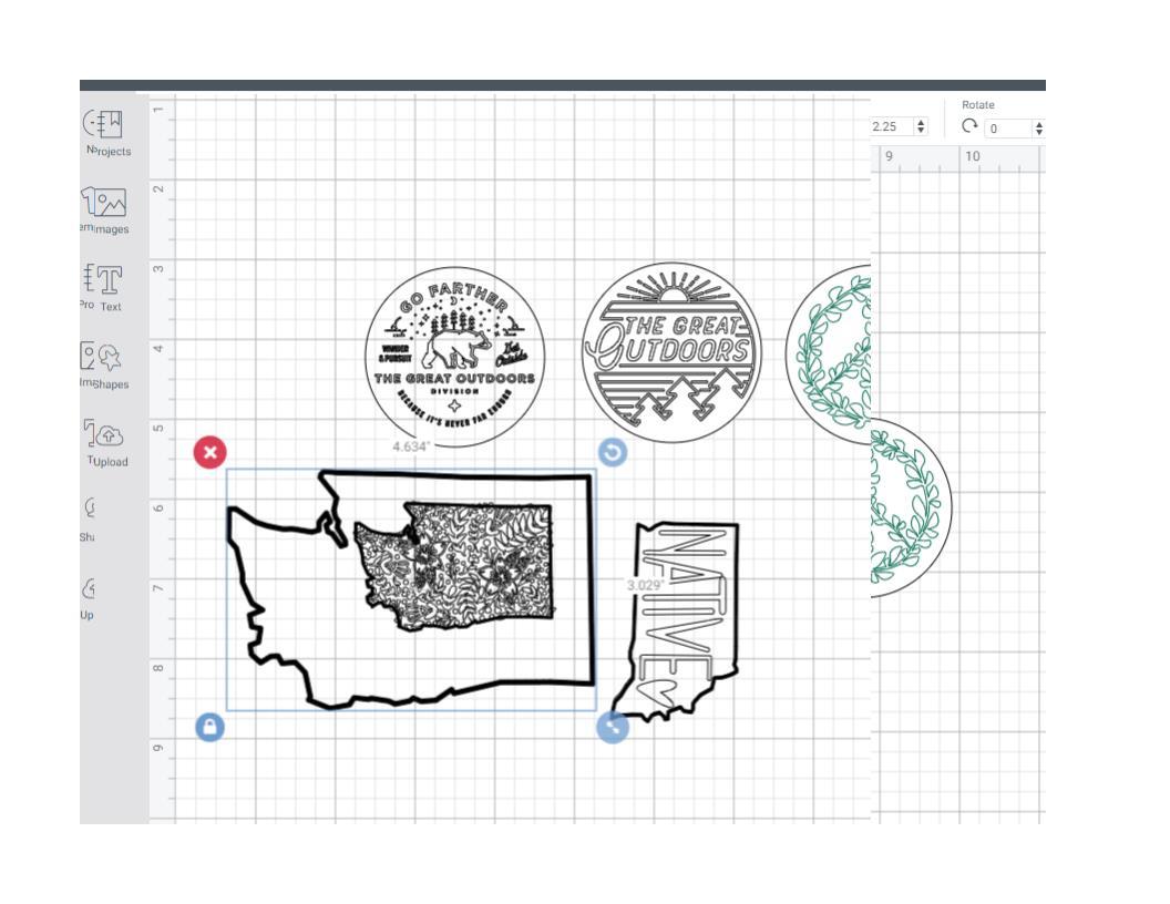 draw and cut image in cutting machine