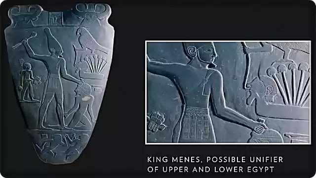 King Menes unites Upper and Lower Egypt