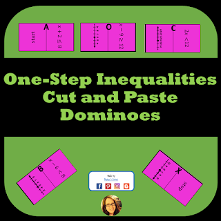 one step inequalities dominoes