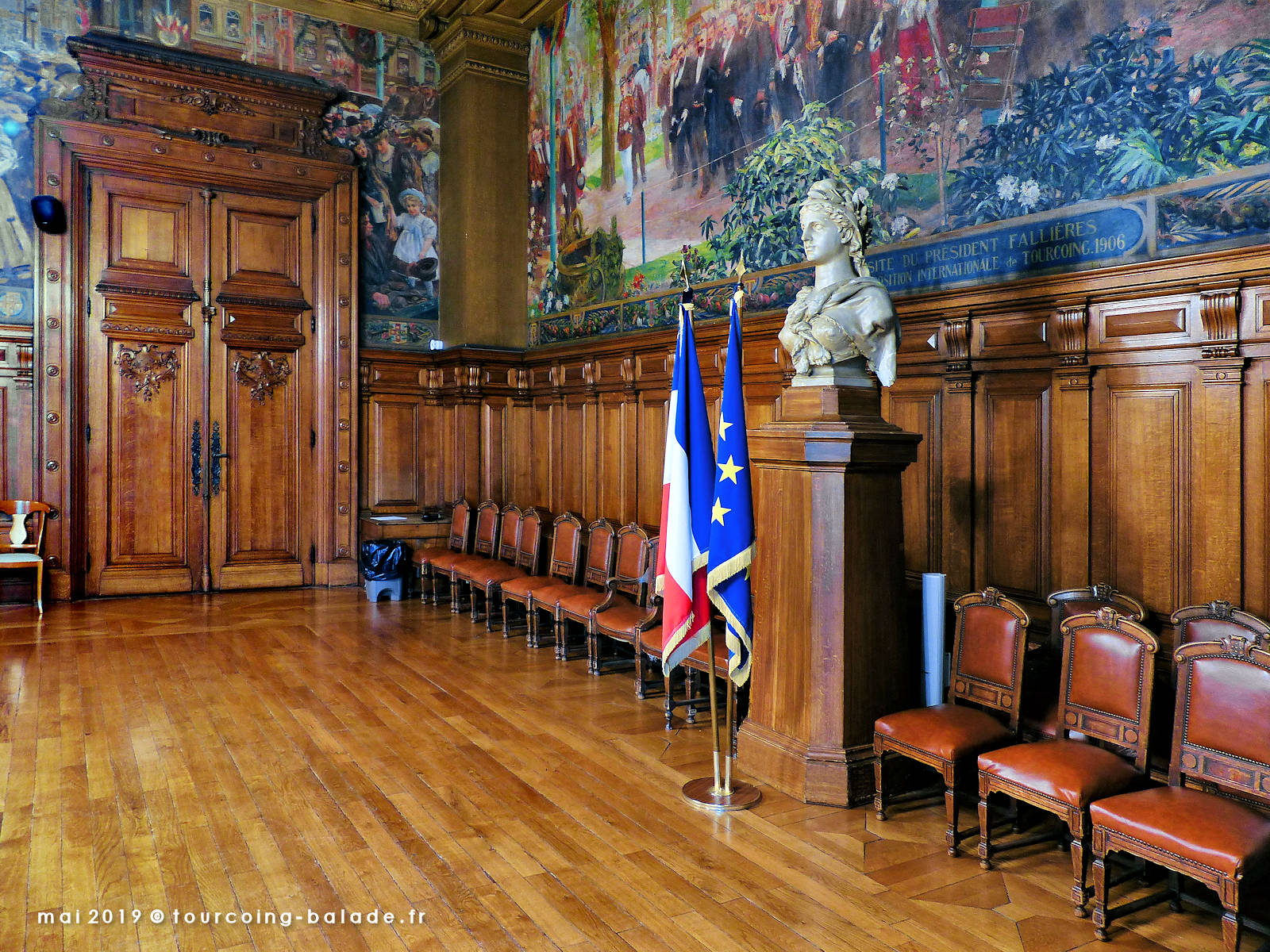 Mairie de Tourcoing, Salle du Conseil Municipal, 2019