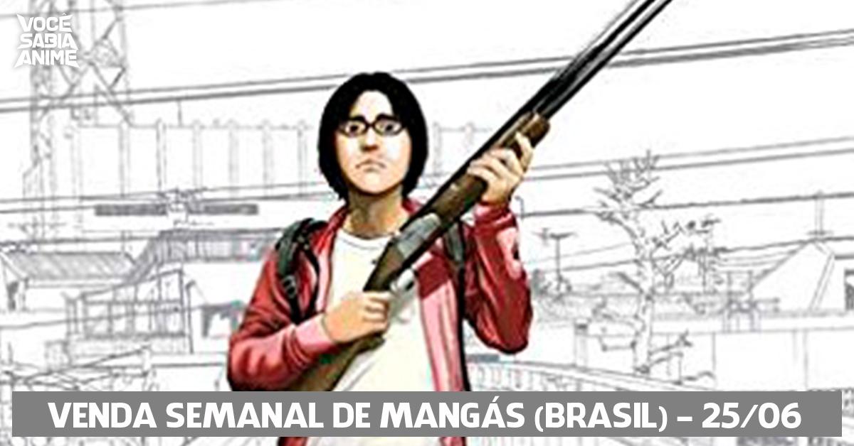 Ranking semanal de vendas de mangás no Brasil - 25-06