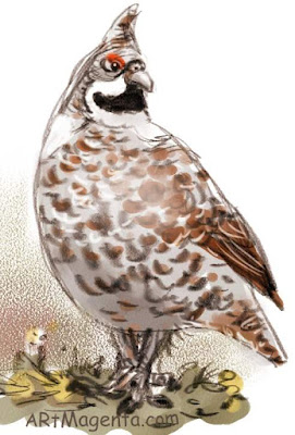 Hazel Grouse is a bird drawing by artist and illustrator Artmagenta