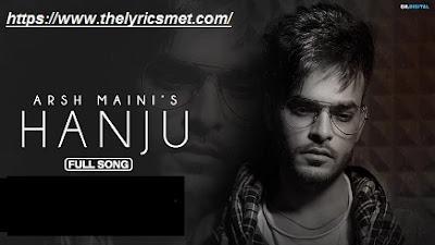 Hanju Song Lyrics |  Arsh Maini | AR Deep | Latest Punjabi Songs 2020 | GK Digital