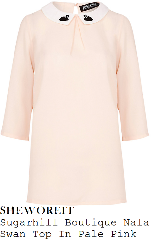 denise-van-outen-sugarhill-boutique-nala-pale-pink-white-black-swan-embroidery-detail-collared-top