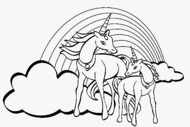Free Coloring Pictures Unicorn Coloring Pictures