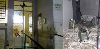 Grupo explode caixa eletrônico e agência dos correios em Serra Branca