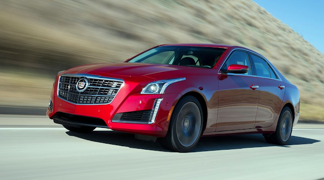2015 Cadillac CTS red