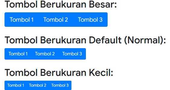 Ukuran Tombol