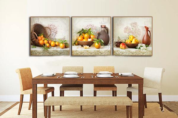 Tranh trang trí phòng ăn đẹp, sang trọng Tranh trang trí phòng ăn