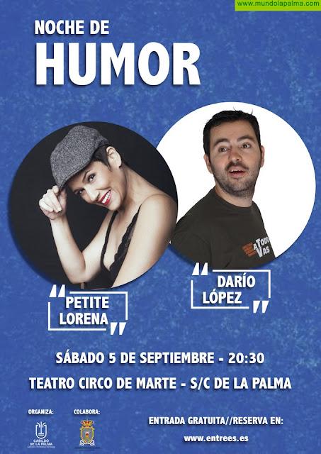 Darío López y Petite Lorena llevan 'Una noche de humor' al Teatro Circo de Marte
