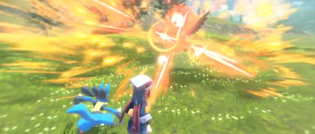 Pokémon Arceus Legends Lucario Staraptor ancient Dawn