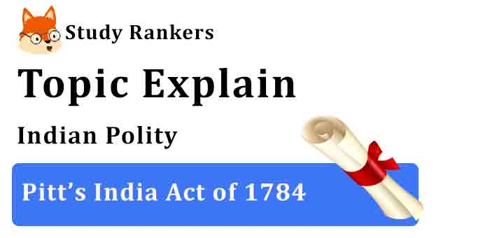Features and Objectives of Pitt's India Act of 1784 - Indian Polity