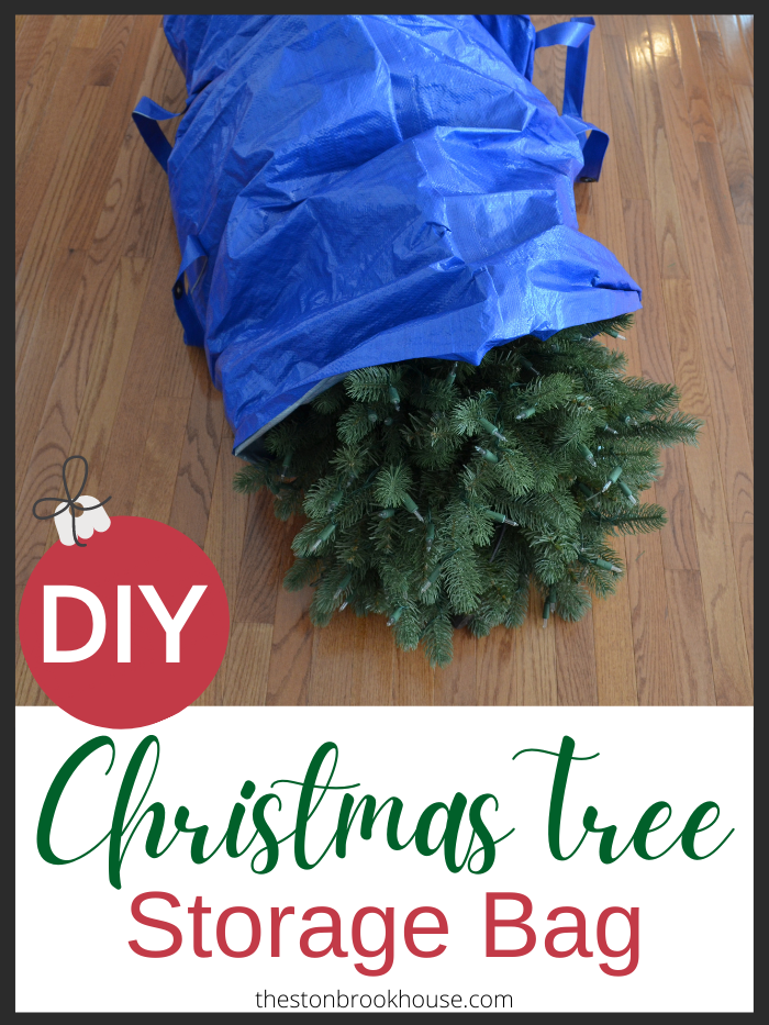DIY Christmas Tree Storage Bag