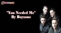 You Needed Me Karaoke By Boyzone