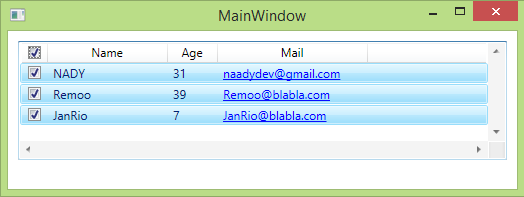 Nady Blog: WPF ListView , GridView Select All CheckBox Operations