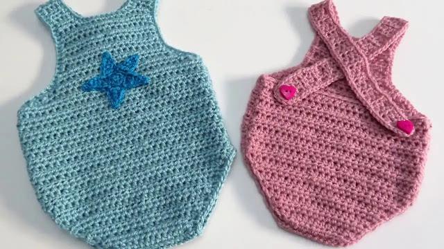 Tutorial Mameluco o Pelele a Crochet Paso a Paso