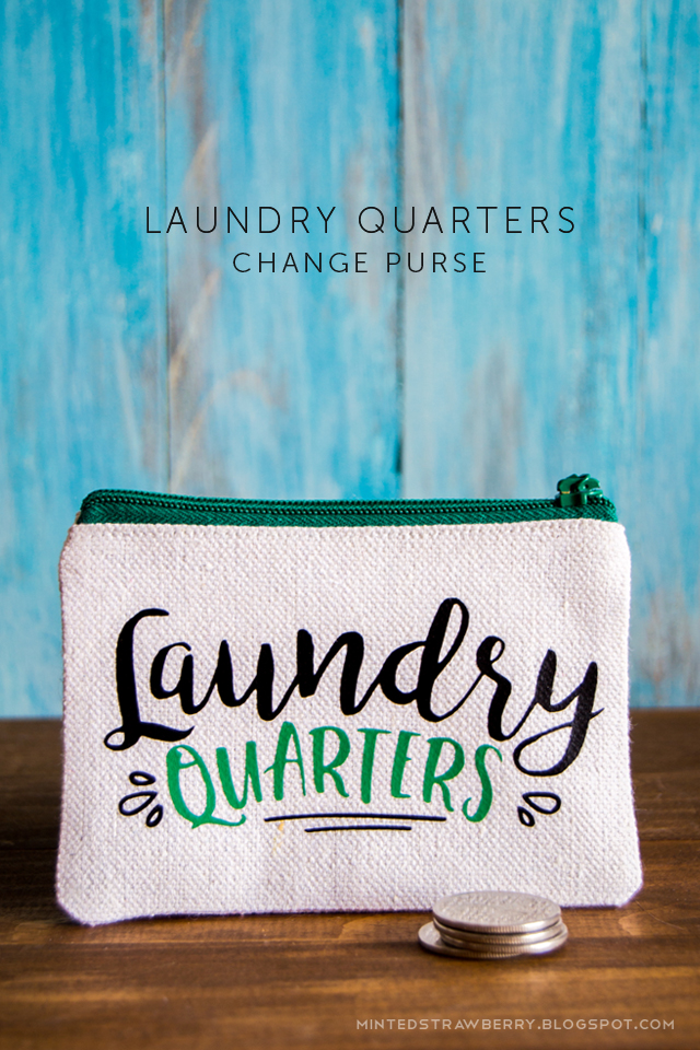 Diy Laundry Quarters Change Purse Minted Strawberry