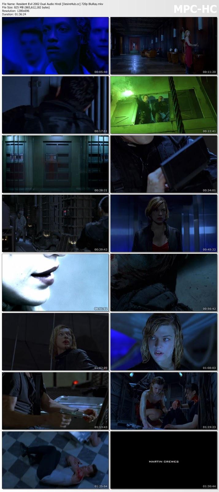 Resident Evil 2002 Dual Audio Hindi 480p BluRay 300mb Desirehub