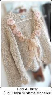 Giysi Süsleme - Hırka Süsleme - Hobi Moda - Kendin Yap 3