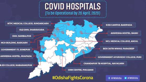 14 New Covid-19 Hospitals will be operational in Odisha by 20th April, Hospital Listed