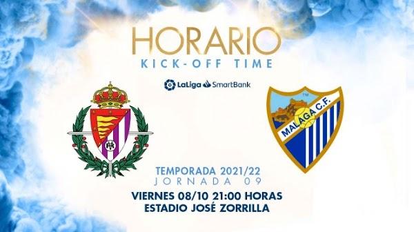 El Valladolid - Málaga, el 8 de octubre a las 21:00 horas