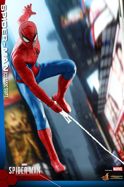 Hot Toys VGM48 PS5 Marvel's Spider-Man - Classic Suit Spider-Man Collectible Figure