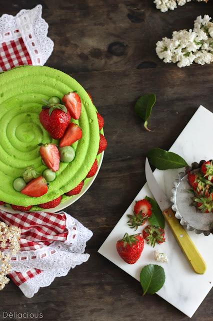 10 idées de recette dessert vegan - macaron fraise et pistache
