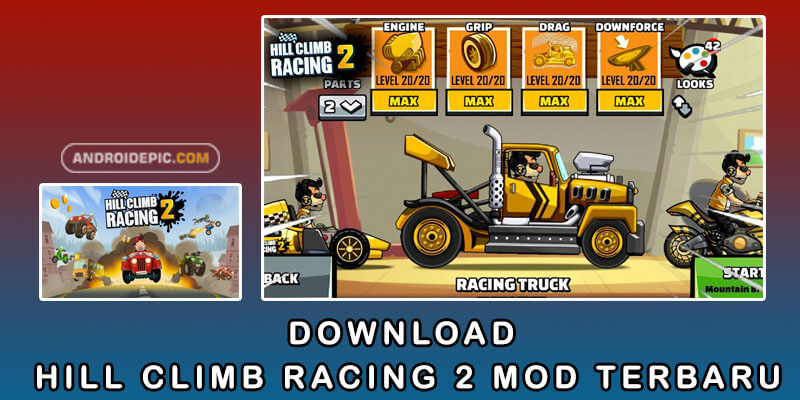Download Hill Climb Racing 2 Mod Terbaru