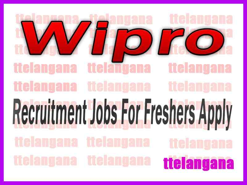 Wipro Recruitment Jobs For Freshers Apply