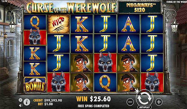Main Gratis Slot Indonesia - Curse of the Werewolf Megaways (Pragmatic Play)