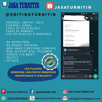 Jasa Cek Plagiarisme Online Profesional Jawa Barat