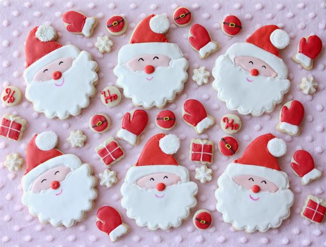 Smiling Santa Cookies - Munchkin Munchies