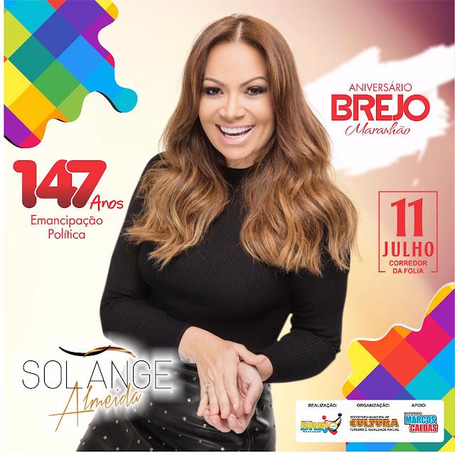 Solange Almeida é atração confirmada no aniversário de Brejo-Maranhão