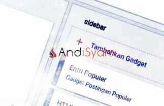 tambah gadget widget sidebar blog
