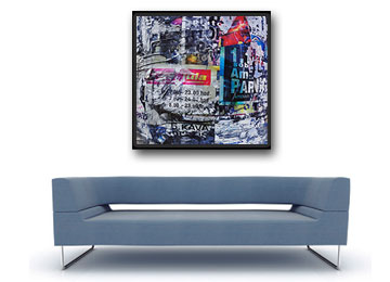 multi coloured, art, industrial, grunge, abstract, canvas art, wall art, contemporary, floating frame, modern,