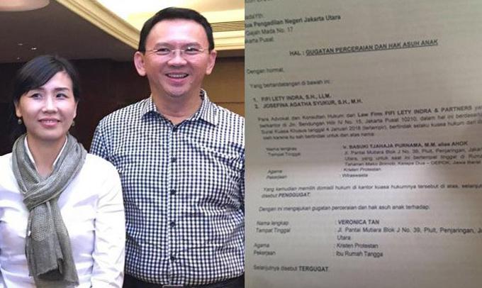 Veronica Tan Digosipkan Selingkuh, Ahok Layangkan Gugatan Cerai