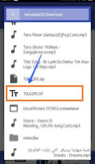 the ttf file
